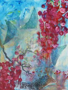 "Saatchi Art Artist Rachelle Mechenbier; Painting, ""Levity: Red with Wings"" #art"