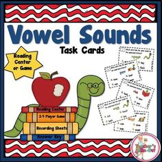 Vowel Sounds Task Cards from Teachers Take Out 32 Task Cards to practice vowel teams and phonic sounds $