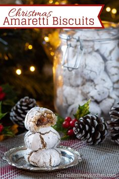 Christmas Amaretti Biscuits - A festive twist on my classic Amaretti Biscuits, with spices, brandy, walnuts and a hidden mincemeat centre. Best Dessert Recipes, Fun Desserts, Holiday Recipes, Christmas Recipes, Christmas Ideas, Mince Meat, Mince Pies, Christmas Biscuits, Christmas Cookies