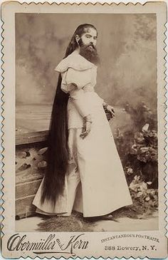 bearded lady photo..thank you Lord for giving women Sally Hanson...just sayin'