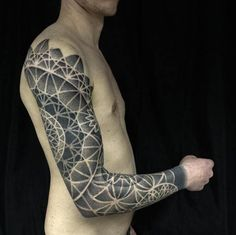 Dotwork Sacred Geometry Full Sleeve by Helsinki