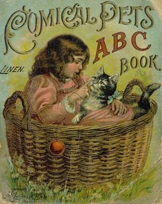 """Comical Pets ABC Book"", published in 1899 by McLoughlin Bros., New York - Front cover"