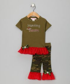 Take a look at this Green Tutu Tee & Pants - Infant, Toddler & Girls by Little Diva on #zulily today!