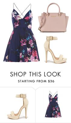 """Dressy"" by rhianna-alexandre ❤ liked on Polyvore featuring Shoe Republic LA, AX Paris and Michael Kors"