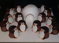Negerzoen pinguins met iglo taartje