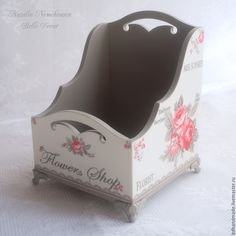 """Купить Подставка для туалетного столика """"Sophie Vintage"""" - декор для дома, декор интерьера, Декупаж"""