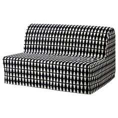 IKEA - LYCKSELE, Sofa-bed cover, Ebbarp black/white, The cover is easy to keep clean as it is removable and can be machine washed. Sofa is sold separately. Ektorp Sofa Bed, Sofa Bed Mattress, Mattress Covers, Sleeper Sofa, Bed Covers, Convertible 2 Places, Sofa Cama Ikea, Black White