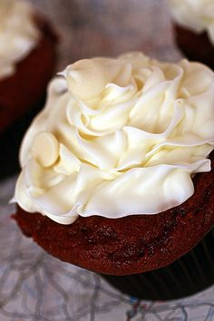 Because red velvet is possibly my favorite kind of cupcake. (Red velvet cupcakes)