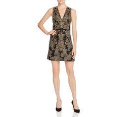 Alice + Olivia Pamela Embellished Silk Dress (£910) ❤ liked on Polyvore featuring dresses and black multi