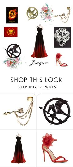 """Hunger Games"" by katniss4117 ❤ liked on Polyvore featuring Emi Jewellery and JustFab"