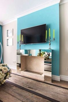 Ideas and tips for small living room Living Spaces, Living Room, Small Living, Modern Fireplace, Fireplace Surrounds, Design Case, Home Fashion, Small Rooms, Home Interior Design