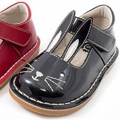 Livie and Luca Bunny Shoes Patent Leather in Black PREORDER