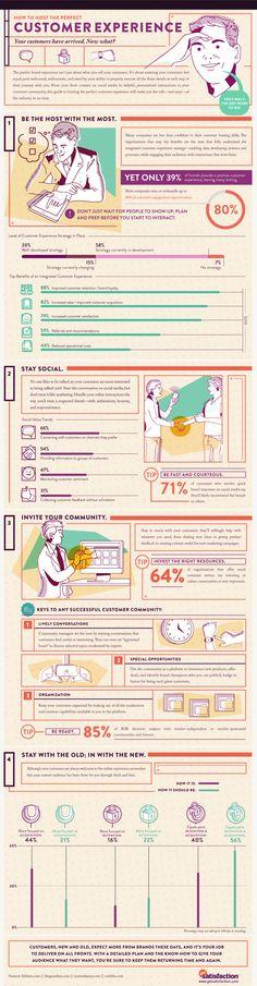 Como hacer perfecta la experiencia de un cliente al ser recibido #CustomerExperience #infographic #business