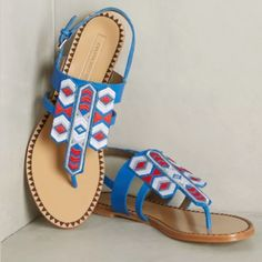 Cynthia Vincent Embroidered Sandals