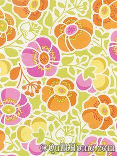Wildwood EM13 Orange Fabric by Erin McMorris - so cool material
