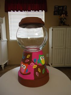 Owl Candy Jar
