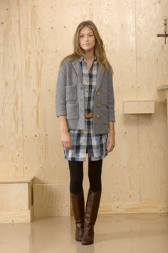 A doctor saw my plaid shirt and asked me if plaid was coming back. I nodded. He shook his head and he never liked the grunge look. Plaid is not coming back in grunge - its coming back in vogue.