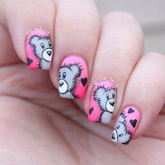 valentine by tina_tech #nail #nails #nailart