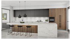 Home Decor Kitchen, Rustic Kitchen, New Kitchen, Home Kitchens, Kitchen Modern, Kitchen Contemporary, Kitchen Hacks, Awesome Kitchen, Dream Kitchens
