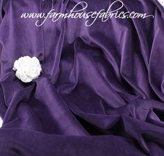 "- 54"" Wide Cotton Velvet, ""Izmir Purple"" (L-12) (8-8-18) - Farmhouse Fabrics Online Shop Farmhouse Fabric, Fall Sewing, Cotton Velvet, Fabric Online, Fabrics, Purple, Shop, Tejidos, Cloths"