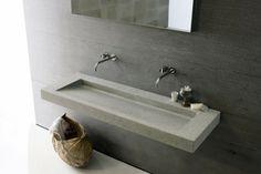 minimalistisch Waschbecken Stein