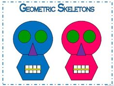 Geometric Skeletons for Halloween  I have many other geometric activities and…