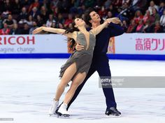 Tessa Virtue and Scott Moir of Canada compete in the Ice Dance Free Program during the ISU Grand Prix of Figure Skating Skate Canada International at Hershey Centre on October 29, 2016 in Mississauga, Canada.