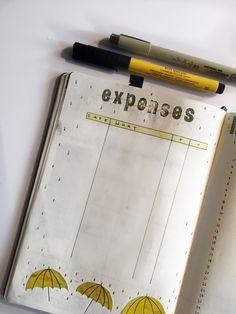 Expense tracker yellow theme rain November