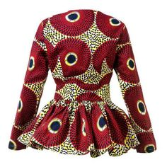 New In African Print Long Sleeve High Waist Top (Also available in Plu – ATMKollectionz South African Dresses, Latest African Fashion Dresses, African Attire, African Wear, Yellow Pencil Skirt, Pencil Skirt Outfits, African Print Shirt, African Prints, African Blouses