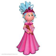 Princesa Rosada Moldes con Paso a Paso