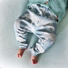 Baby legging winter polar bear white blue  door StyleYourMini
