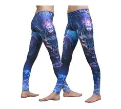 """Sublime Leggings : Violet Foxy Lady Sublimation print lycra leggings with wide waistband & all over print The design is printed using dye sublimation technology on a high quality, 4-way stretch, polyester lycra. This gives extremely juicy, vibrant colors that will never fade away, no matter how many times they get washed, & results in an extremely soft """"feel"""" to the leggings for ultimate comfort. Polyester lycra (82% polyester, 18% spandex) Artwork by Luke Brown"""