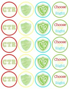 """free ctr printable cupcake toppers.  Perfect for baptisms or """"it's great to be 8"""""""
