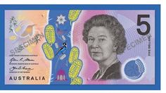 Australia's new $5 bank note [front]