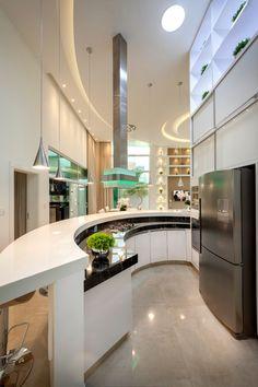 Kitchen Design Open, Luxury Kitchen Design, Dream Home Design, Luxury Kitchens, Tuscan Kitchens, Small Kitchens, Kitchen Designs, Modern Exterior House Designs, Modern Architecture House