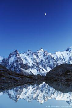 Aiguilles de Mont Blanc and Lac Blanc, Chamonix, France