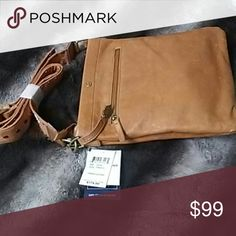 Lucky Brand Farrah Leather crossbody Lucky Brand Farrah Leather Crossbody bag in Tobacco color 100% leather exterior New with tags Distressed design, not damaged. Lucky Brand Bags Crossbody Bags