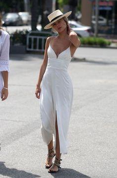street style -- white dress