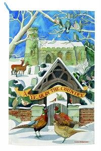 Tea Towel Year in the Country Winter '14
