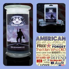 Get out the 2nd Candle/Tart from our American Freedom Collection:  AMERICAN STRONG Honor the men and women who have served our country with this amazing candle or tart!!   21oz Candle: $24.95  5.5oz Tart: $15.95     Check out my Online store for 2 more great scents from out American Freedom Collection! Go to www.ScentsAndJewelsByClaudia.com    and be sure to like my Facebook Page too www.Facebook.com/JICRepClaudiaGarcia
