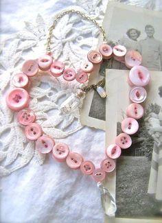 ...Button heart wreath ... precious!