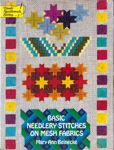 Basic Needlery Stitches on Mesh Fabrics by Mary Ann Beinecke, Nantucket School of Needlery, 60 pages, Instructions, Photos, Soft Cover Book Craft Books, Book Crafts, Vintage Crafts, See Picture, Nantucket, Mesh Fabric, Stitches, Needlework, Ann