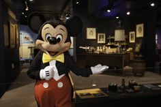 Walt Disney's formal office has been recreated using his actual desk and personal effects. || MSI Chicago, @Disney D23 | The Official Disney Fan Club Presents Treasures of the Walt Disney Archives