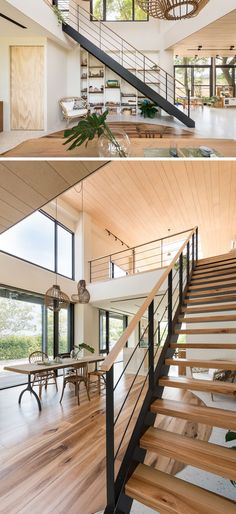 This New Home Creatively Uses Wood To Add A Natural Touch To Its Interior