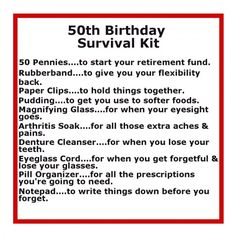 55604d16 May need this 1 day :) Delightfully Noted: Birthday Survival Kit Going to  need this for some people real soon! (could use for 60 or even 70 with a  little ...