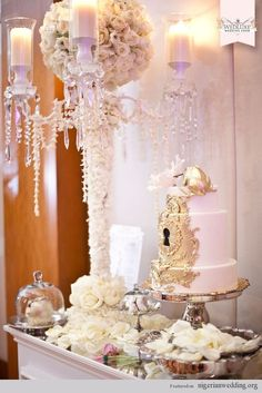 Nigerian Wedding Cakes: 4 Fantastic Cake Table Decoration Ideas |
