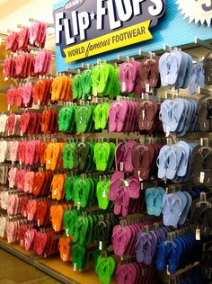 17c2ce76107 Wall of flip flops. Summer FeetSummer WinterOld Navy ...