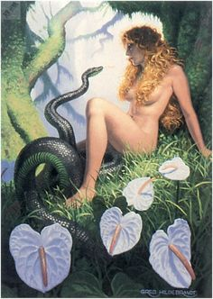 Art by Greg Hildebrandt - Изображение в архиве: io4f091 Serpents Glen