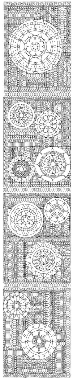 Totally need to color this! - Zentangle - More doodle ideas - Zentangle - doodle - doodling - zentangle patterns. zentangle inspired - #zentangle #doodling #zentanglepatterns