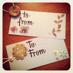 hand made gift tags // CraftAndFabricLinks.com